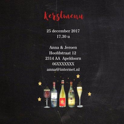 Kerst menukaart diner wijn 2