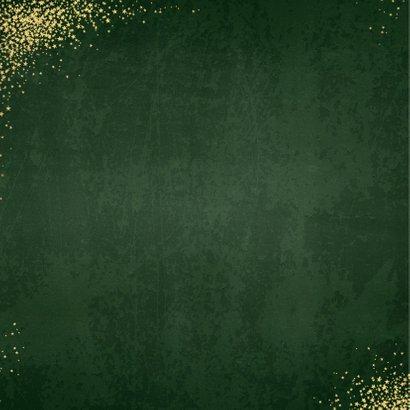 Kerst moderne groene kerstkaart sterren rendier goud glitter 2