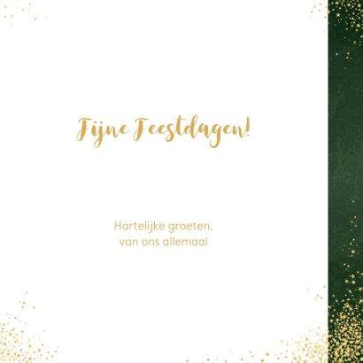 Kerst moderne groene kerstkaart sterren rendier goud glitter 3