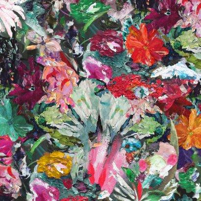 Kerst nieuwjaar bloemen kunst eigen txt Achterkant