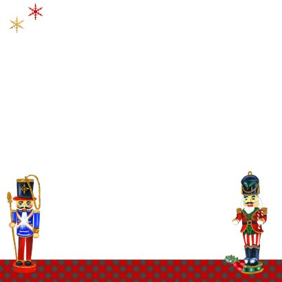 Kerst notenkrakers kerstballen Achterkant