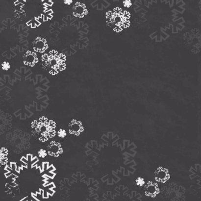 Kerst paal krijtbord sneeuw Vknt 2