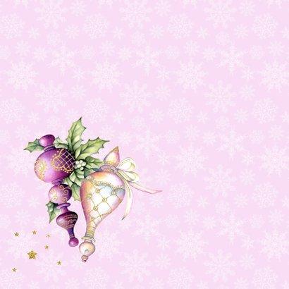 Kerst purple kerstballen hulst 2