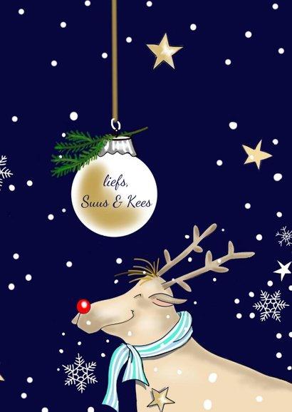 Kerst - rendieren en kerstballen 3