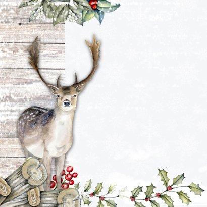 Kerst rendieren sneeuw 2