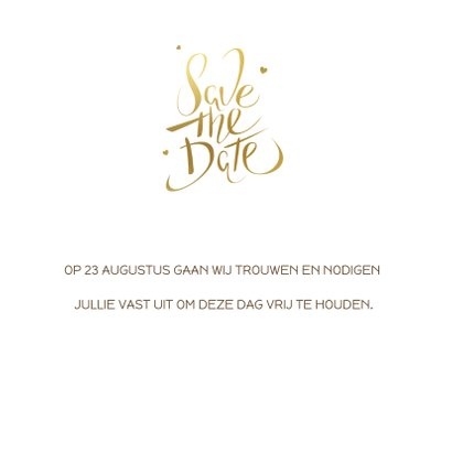 Kerst Save the date kaart goud 3