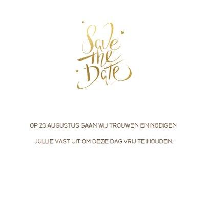 Kerst Save the date kaart goud 3