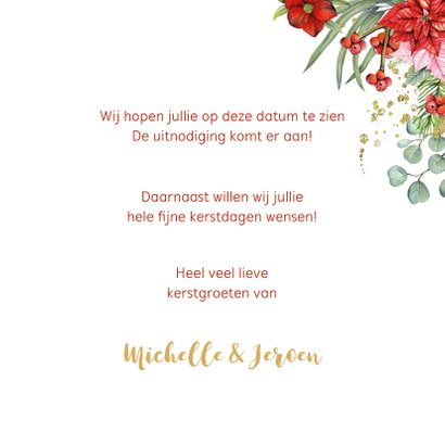 Kerst Save the date kerstster 3