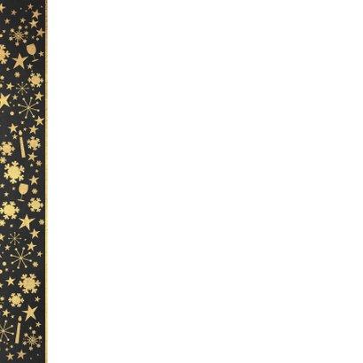 Kerst sfeervolle kaart krijtbord met kerstbal hout look 2