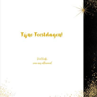 Kerst sfeervolle  kaart met typografische gouden tekst 2020 3