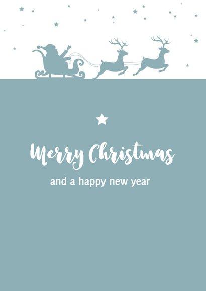 Kerst - Silhouet kerstman, slee en rendieren 2