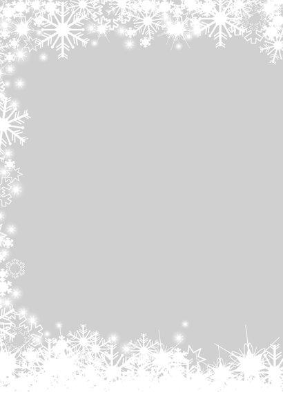Kerst sneeuw en twinkelingskader 2
