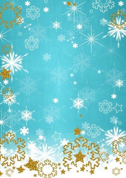 Kerst sprankelend foto blauw S 2