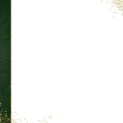 Kerst stijlvolle donker groene foto kaart gouden sterretjes 2