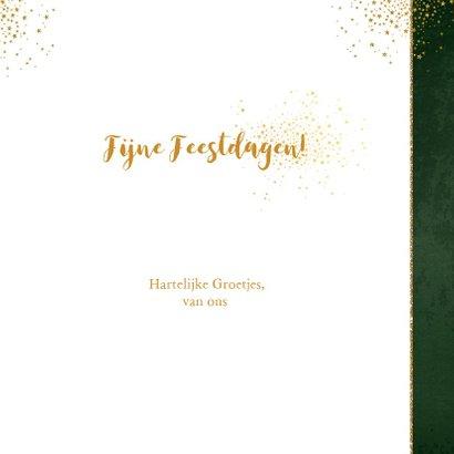 Kerst stijlvolle donker groene foto kaart gouden sterretjes 3