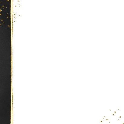 Kerst stijlvolle donkere foto kaart gouden sterren 2