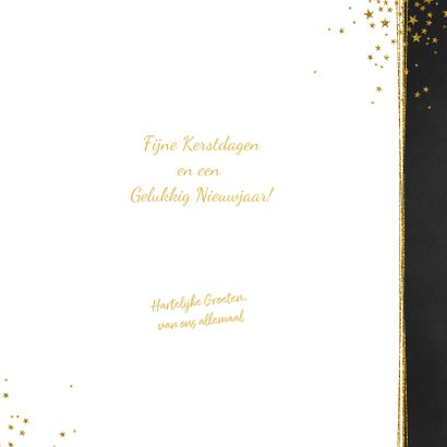 Kerst stijlvolle donkere foto kaart gouden sterren 3