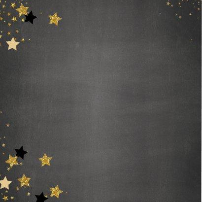 Kerst stijlvolle foto kaart krijtbord en sterren 2021 2