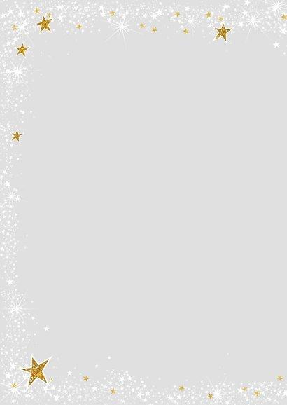 Kerst stijlvolle kaart met foto en vele sterretjes 2