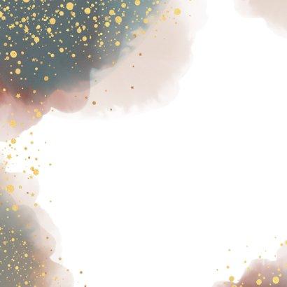 Kerst stijlvolle kaart waterverf en gouden spetters  2