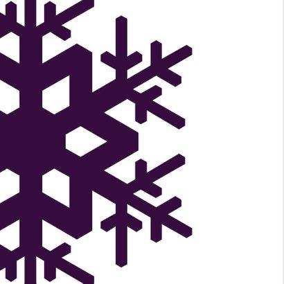 Kerst Strak ijskristal paars 2