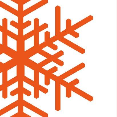 Kerst Strak oranje ijskristal met sierletters 2