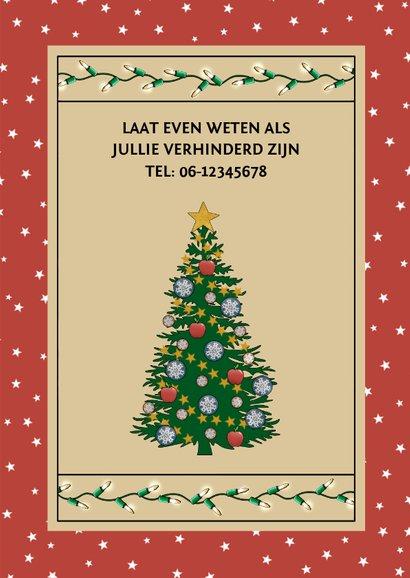 Kerst uitnodiging voor Christmas Party met kerstboom 3
