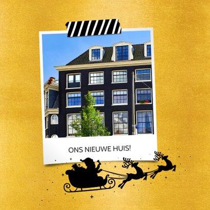 Kerst verhuiskaart adreswijziging - Happy New Home zwart 2