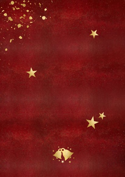 Kerst verhuiskaart fotocollage polaroids- happy new home Achterkant