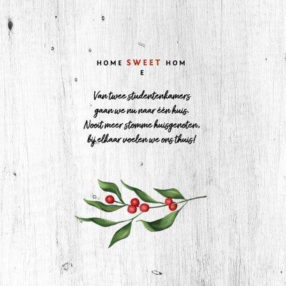 Kerst verhuiskaart houtlook met foto's en kersttakje 2