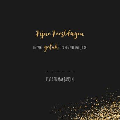 Kerst verhuiskaart met goudlook confetti en dust 3