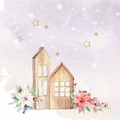 Kerst-verhuiskaart met kerstrozen 2
