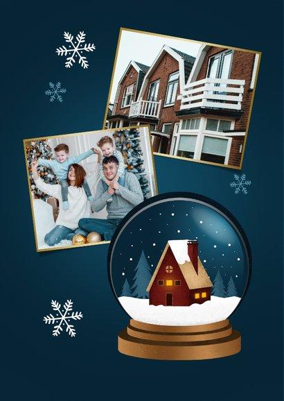 Kerst verhuiskaart sneeuwbol huis fijne feestdagen 2