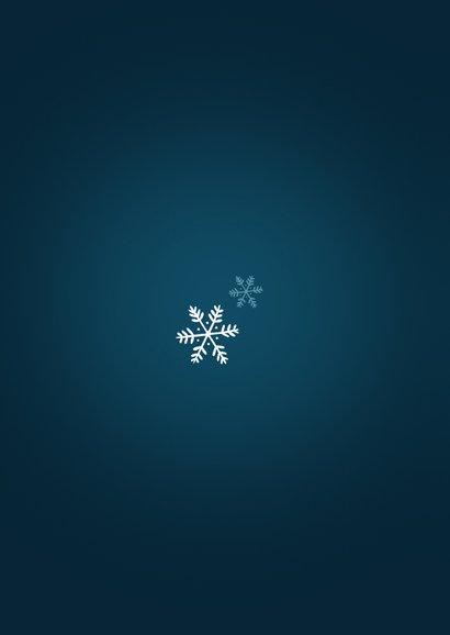 Kerst verhuiskaart sneeuwbol huis fijne feestdagen Achterkant
