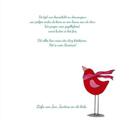 Kerst vogel handlettering fotokaart  3