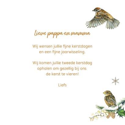 Kerst vogeltjes in de sneeuw 3