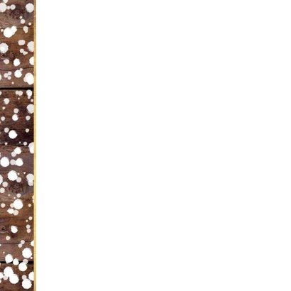 Kerst winterse kaart houtlook en kerstboom krijtbord 2