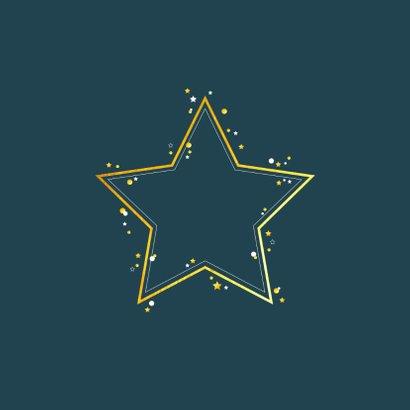 Kerst - Zakelijke kerstkaart met gouden ster 2