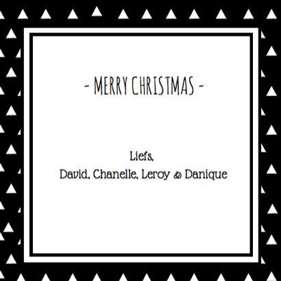 Kerst Zwart Wit Driehoekjes 3