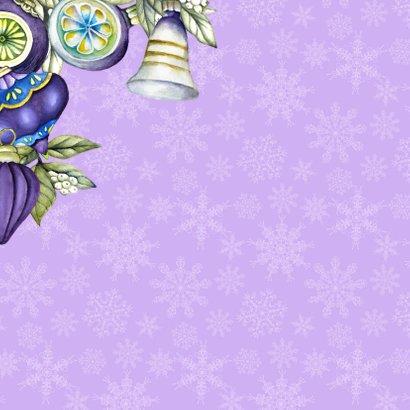 Kerstbal kerstklok paars 2