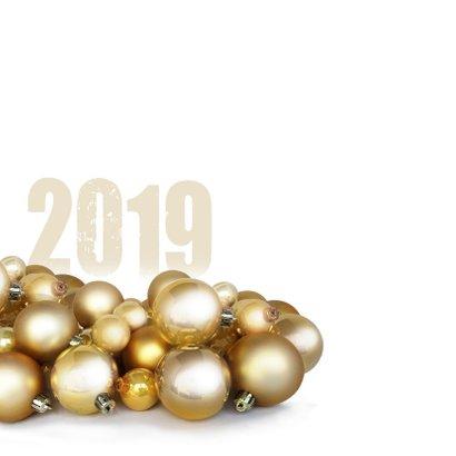 Kerstballen goud logo zakelijk 2019 2