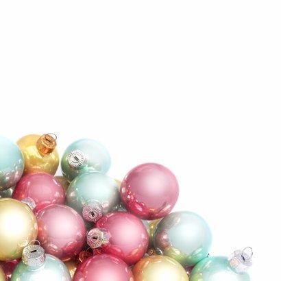 Kerstballen label pastel logo bedrijf 2
