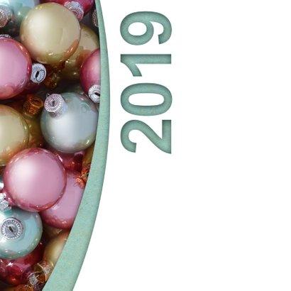 Kerstballen pastel label logo boog 2019 2