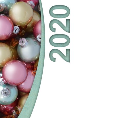 Kerstballen pastel label logo boog 2020 2