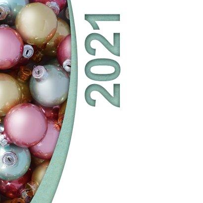 Kerstballen pastel label logo boog 2021 2
