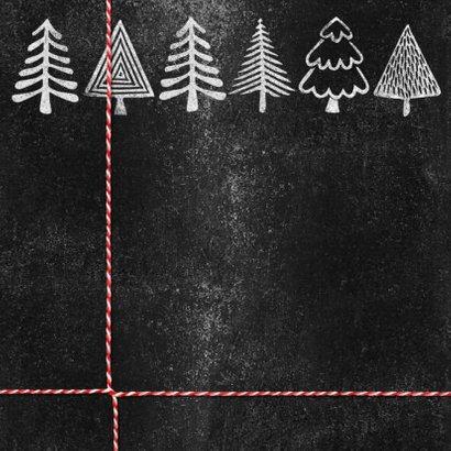 Kerstbomen logo krijtbord zakelijke kerstkaart 2