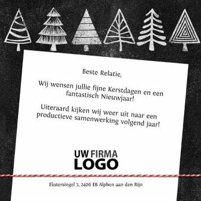 Kerstbomen logo krijtbord zakelijke kerstkaart 3