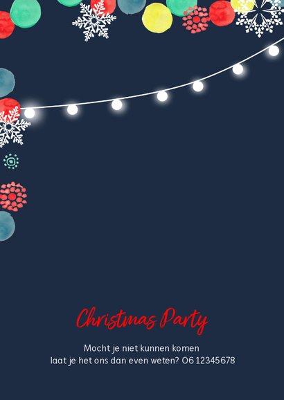 Kerstborrel kerstfeest kerstballen en sneeuw 2