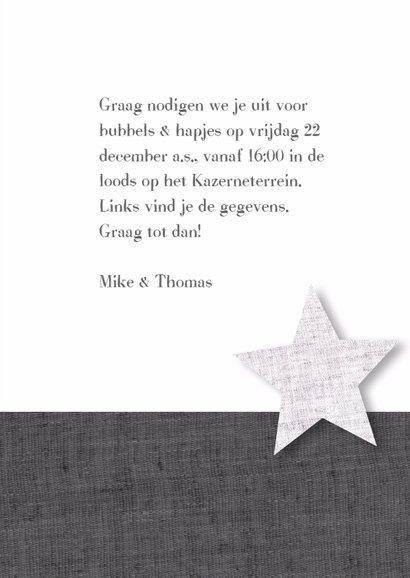 Kerstborrel sterren zwart wit grijs 3