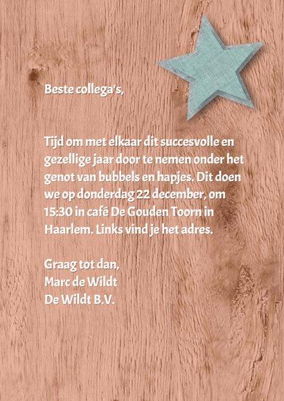 Kerstborrel trendy hout ster 3
